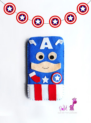 funda capitan america movil