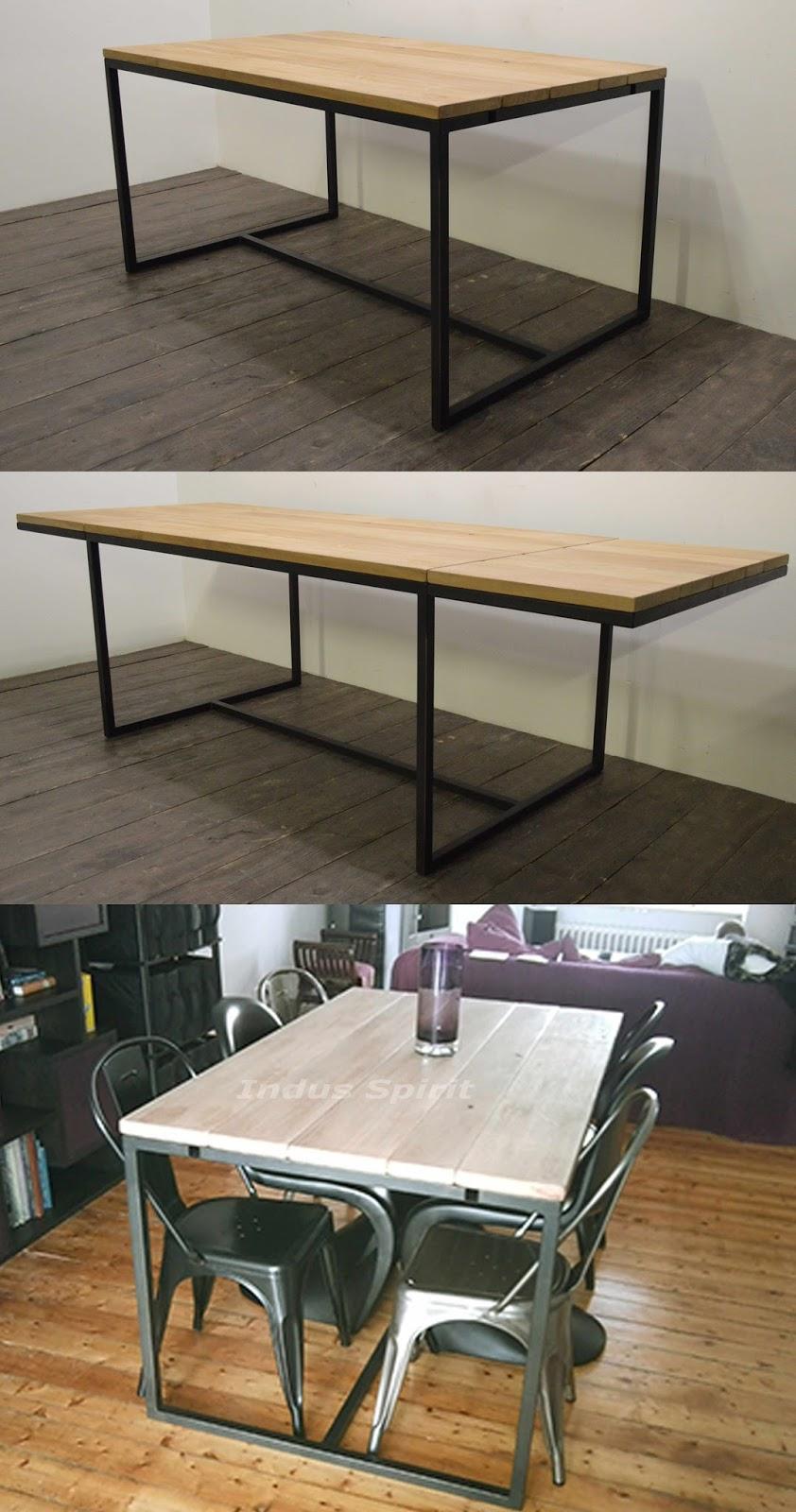 Meuble industriel d coration industrielle meuble de for Table industrielle design