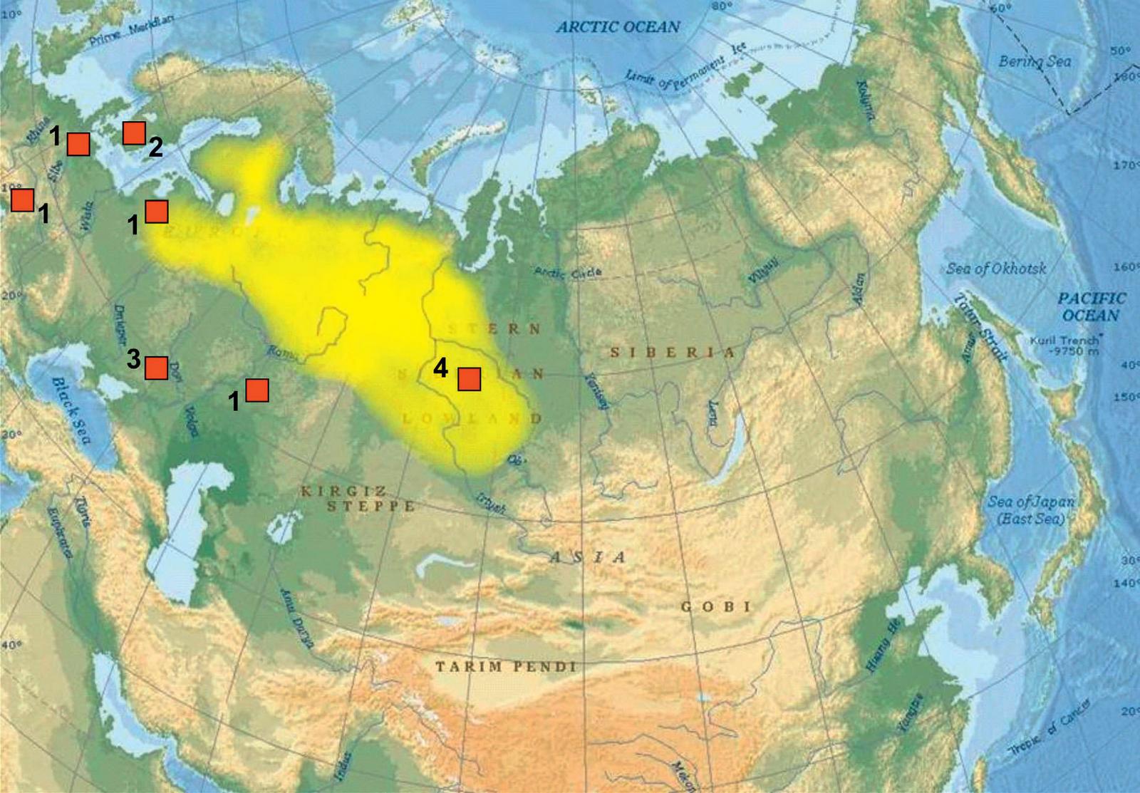 The careful examination of the West Siberian Plain Map