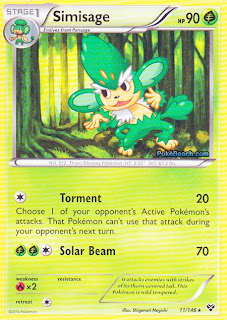 Simisage X and Y Pokemon Card