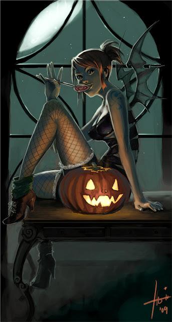 Nami as Halloween Demon