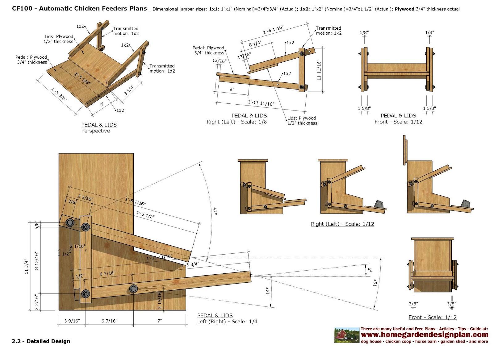 Home Garden Plans Cf Chicken Feeder Plans Construction