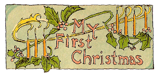 Baby First Christmas Label Printable