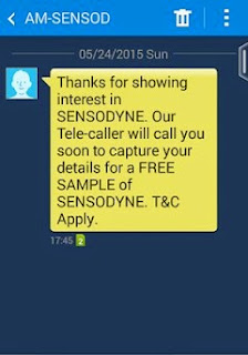 Free Sample Of Sensodyne Toothpaste