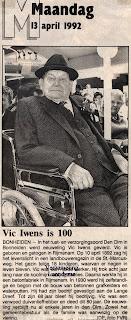 Victor Iwens, steeds goedgeluimd in zijn rolstoel en hield ook van een rustig babbeltje met zijn medebewoners