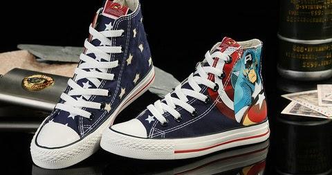 nike sb dunk cartoon shoes converse captain america high