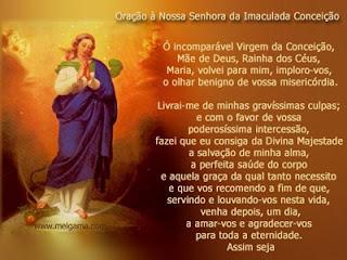 Nossa Senhora da Imaculada Conceição-dia 08 de dezembro