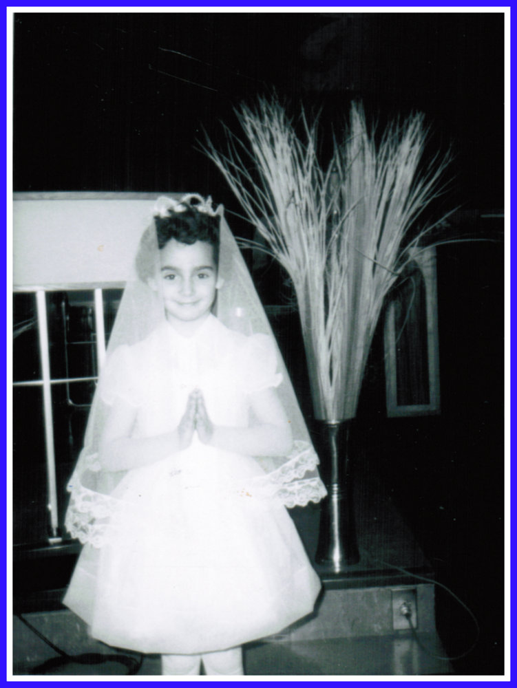 Yvonne Belair at her First Communion in 1966