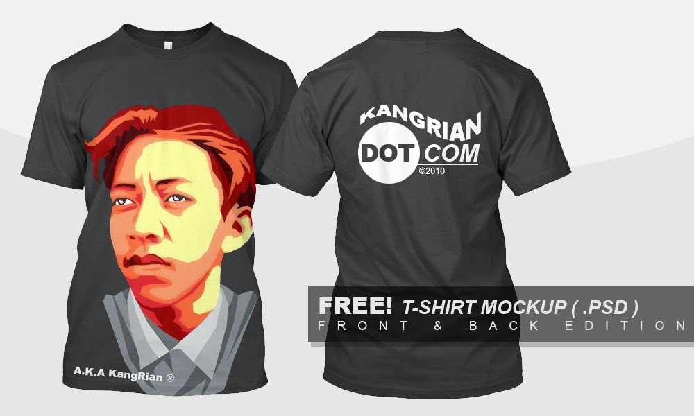 Download Gratis! Mockup T-Shirt/Kaos Front-Back ( Depan - Belakang ) #PHOTOSHOP