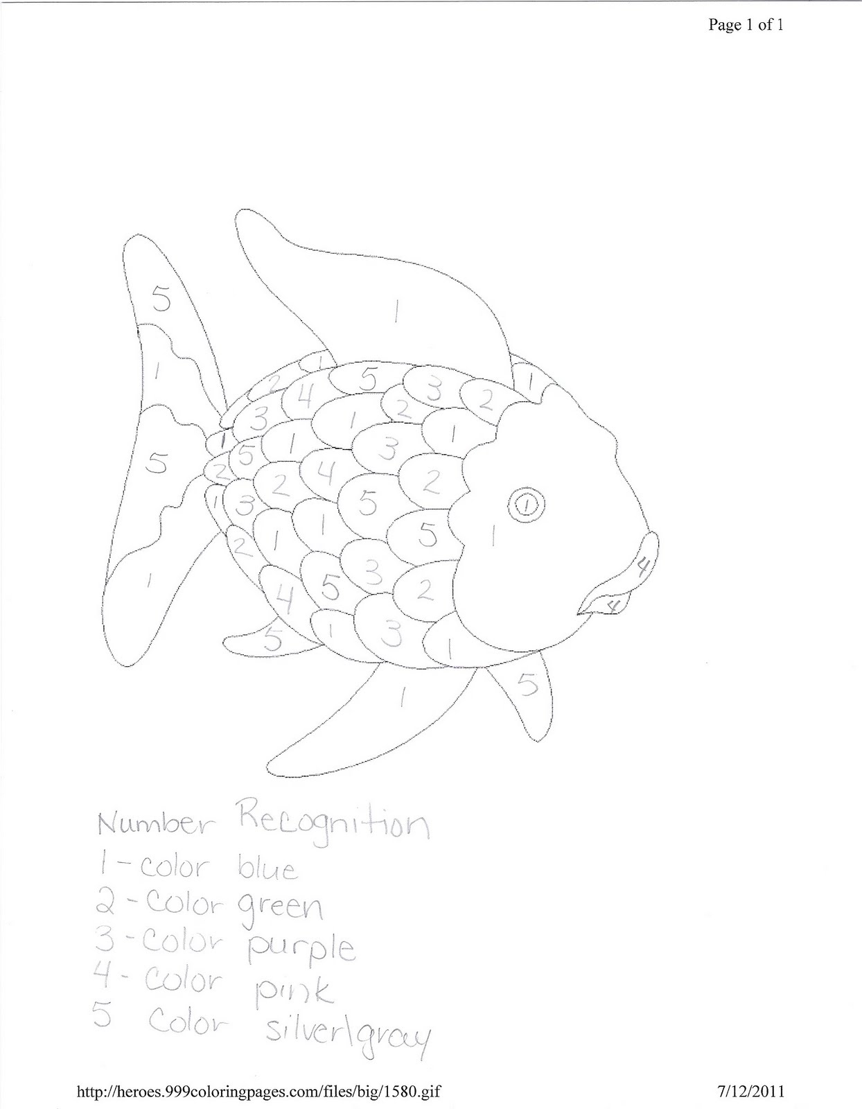 Free coloring pages of rainbow fish activities for Rainbow fish activities