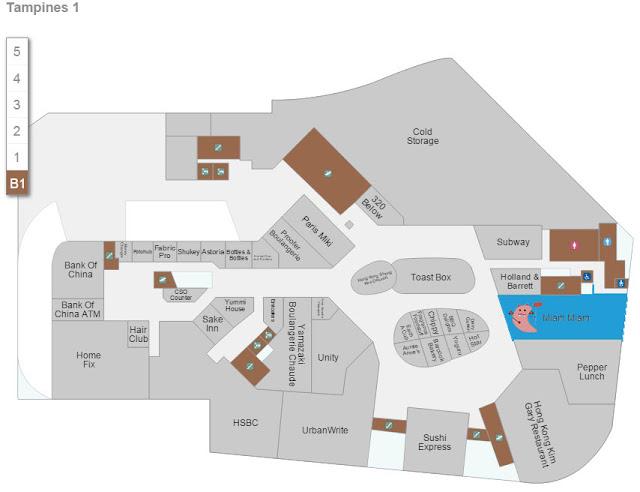 Tampines 1 - Miam Miam Store Location