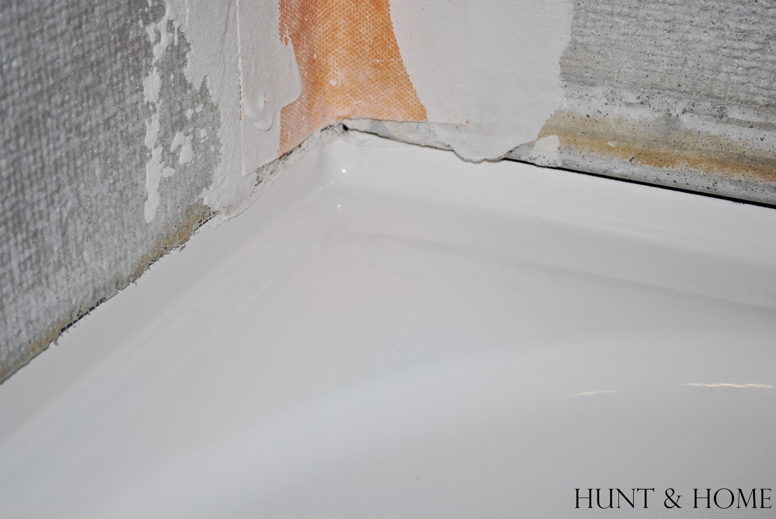 how to remove dry thinset from enameled steel tub
