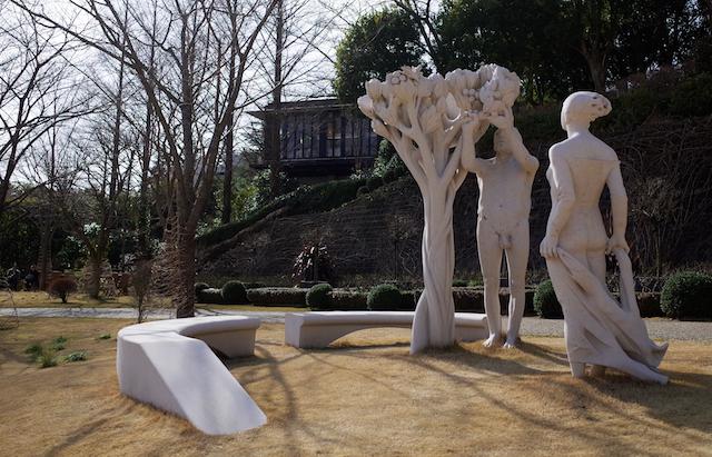 ヴァンジ彫刻庭園美術館 下部庭園