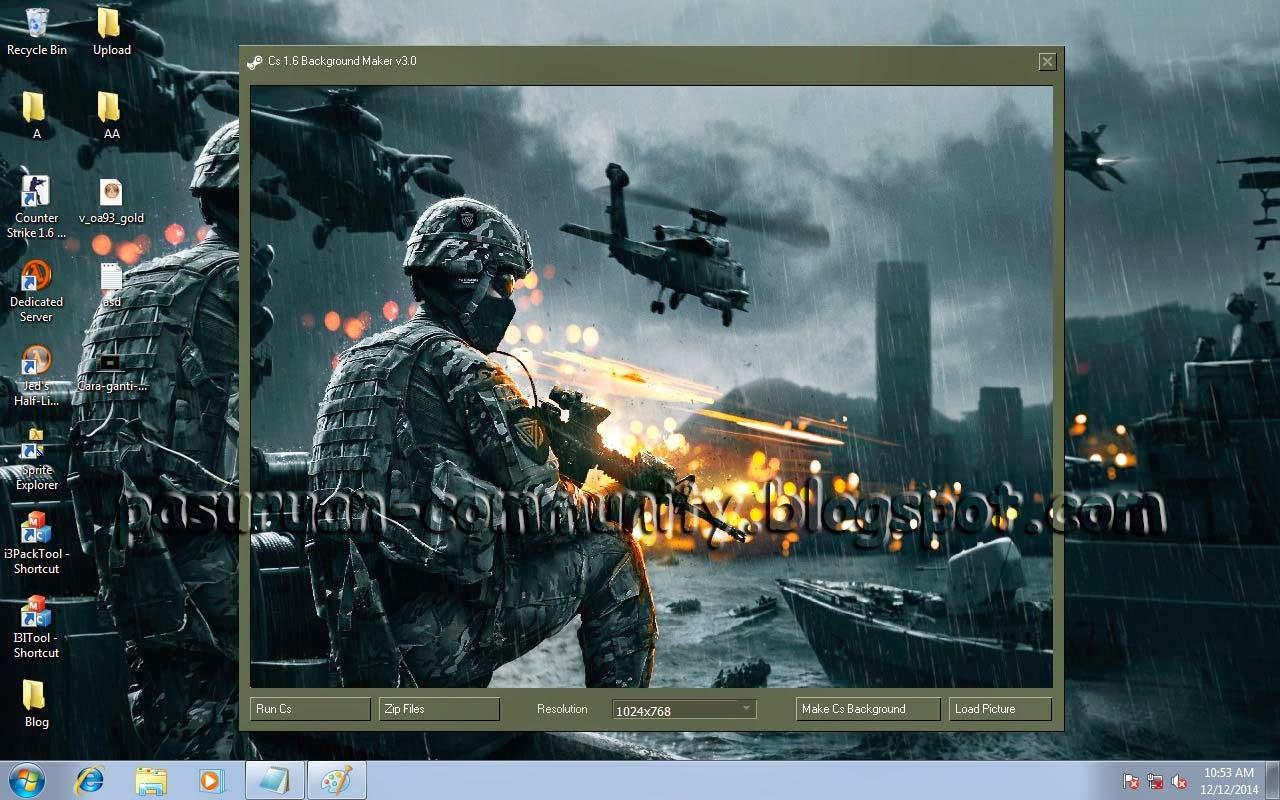 Cara Mudah Mengganti Background Counter Strike 1.6 atau Condition Zero
