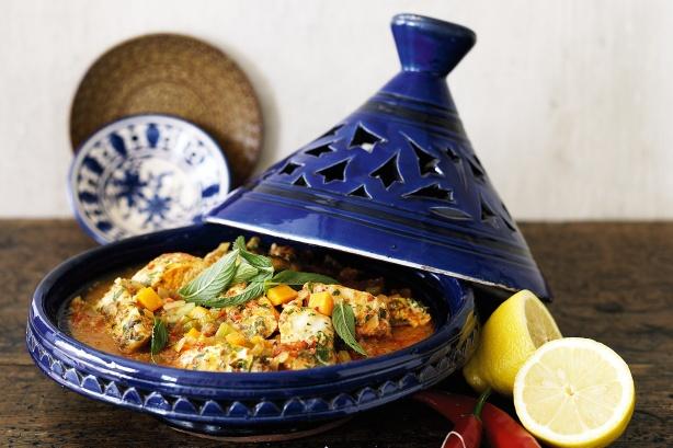 Moroccan Fish Tagine ~ Moroccan Chef