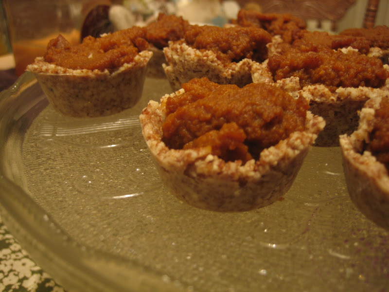 Discovering the Extraordinary: No-Bake Mini Pumpkin Tarts (grain free)