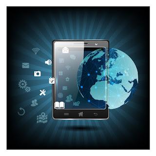 グローバル ネットワークを表現した背景 Global Networks background イラスト素材