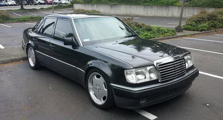 A gloriously stealthy 1992 porsche made mercedes 500e is for Mercedes benz 500 e
