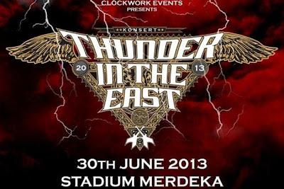 Malaysia, Antarabangsa, Hiburan, Jepun, Singapura, Indonesia, 4, Gergasi, Rock, Asia, Gabung, Dalam, Thunder in The East, Loudness, Search, Rusty Blade, Slank, Rock Kapak, Rock n Roll