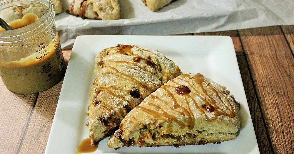 Sweet and Spicy Monkey: Caramel Apple Scones