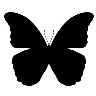 Siluetas negras animales para recortar - Mariposas para decorar paredes ...