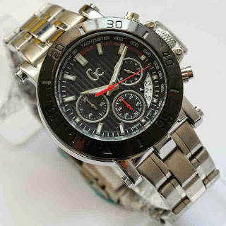 Guess GC Gladiator Ring Hitam Plat Hitam