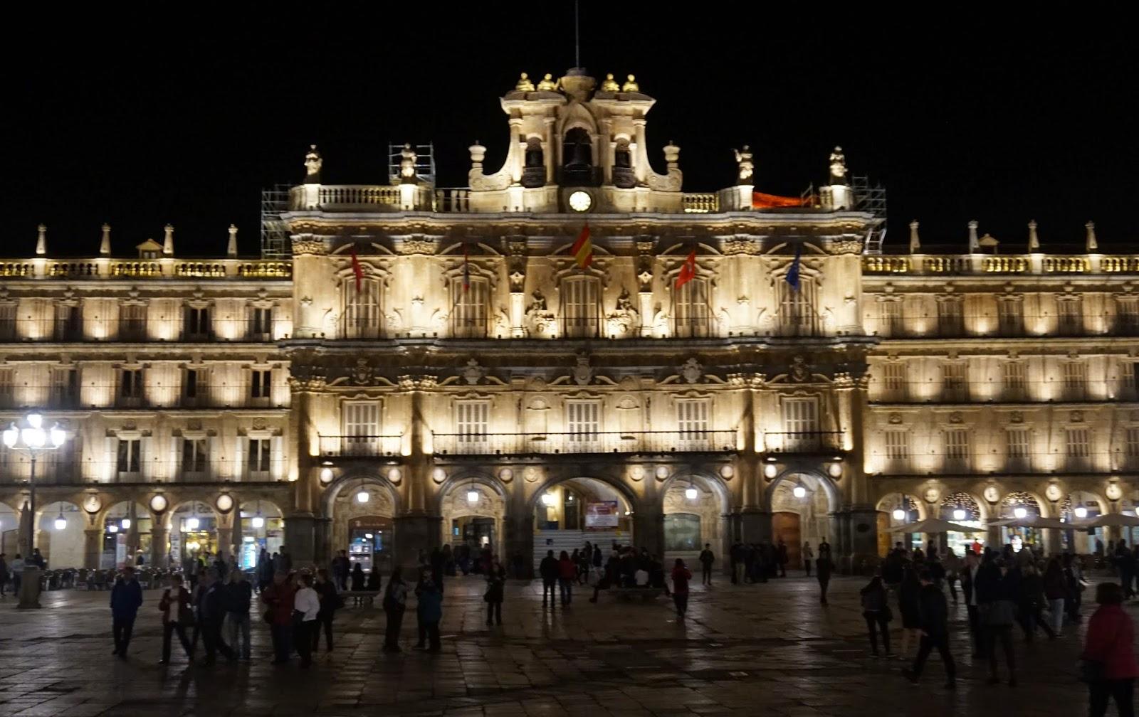Plaza Mayor Salamanca noche