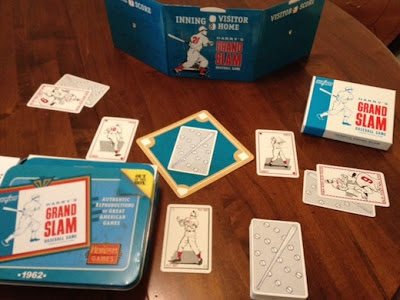 Harry's Grand Slam Baseball card game in play