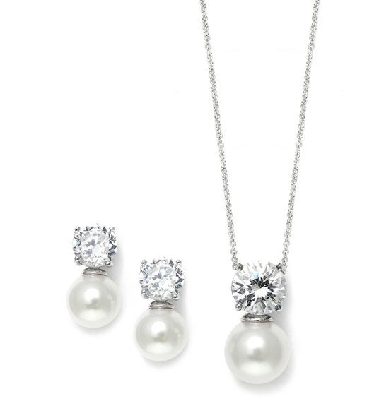 http://allstyleweddings.com/Bride-Essentials/Jewelry/Sets/Cubic-Zirconia-with-Pearl-Solitaire-Bridal-or-Bridesmaid-Necklace-Earrings-Set