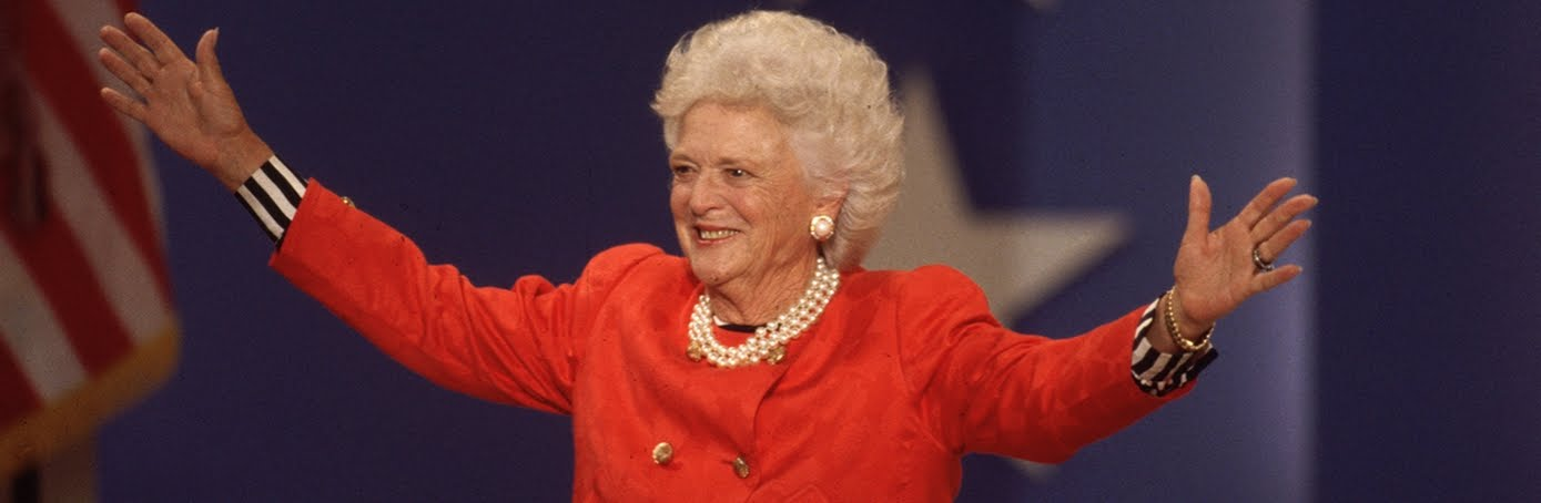 BARBARA BUSH SAYS HER GOODBYE: ADIEU