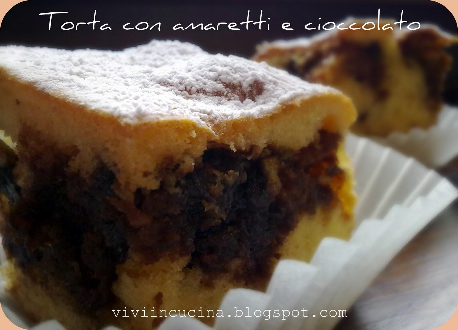 Vivi In Cucina Torta Con Amaretti Imbevuti E Cioccolato