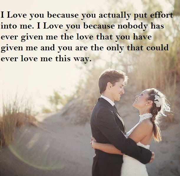 I Love You Quotes 2014 : Quotes and Sayings: I Love You Because You Actually Put Effort Into Me