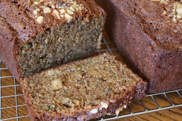 Zucchini Spice Bread with Walnuts and Olive Oil recipe by Barefeet In The Kitchen