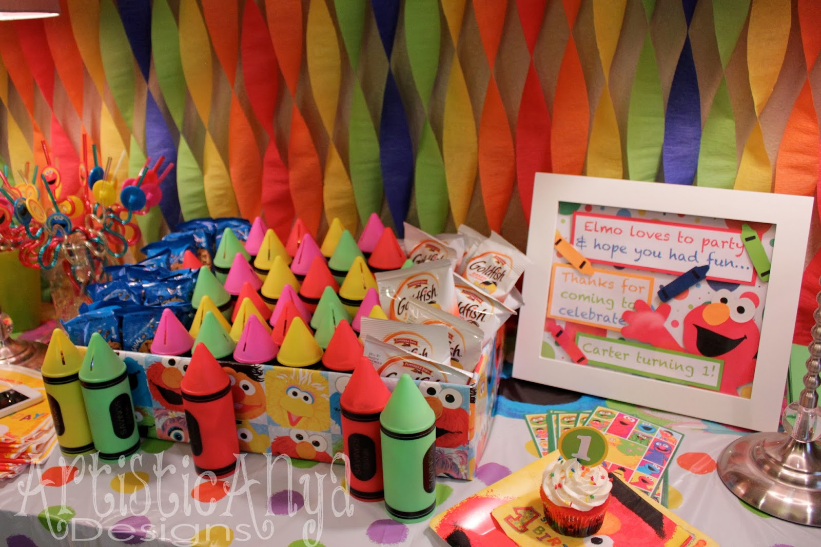 Elmo 1st birthday party ideas birthday party sesamestreet - Artistic Anya Designs Elmo And Friends Sesame Street 1st Birthday Party