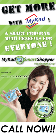 ACTIVATE YOUR MYKAD TODAY &amp; GET FREE BONUS POINT AND CASH REBATE