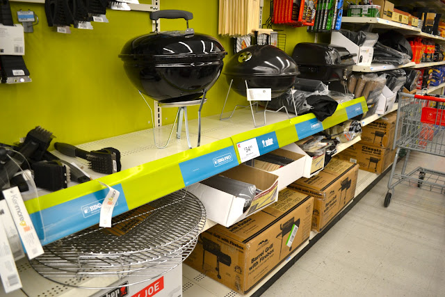 Portable Grilling Section at Kmart