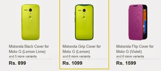 Moto G Cases and Covers Go Live on Flipkart Starting at Rs 899