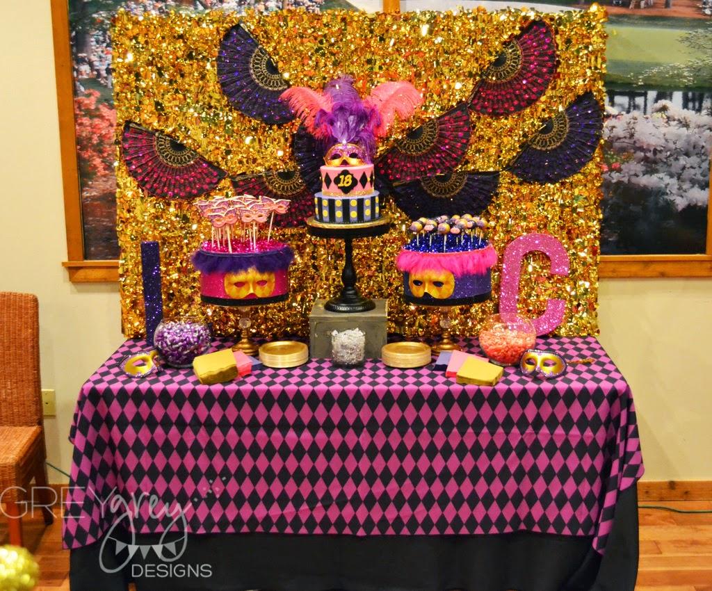 Greygrey Designs My Parties Lawrie And Celines Masquerade 18th