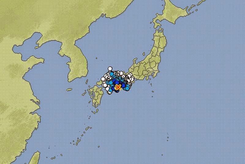 Epicentro sismo 5 grados en Japón