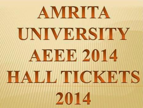 Download Hall Ticket 2014 Amrita Engineering Entrance Examination 2014 Online @ www.amrita.edu