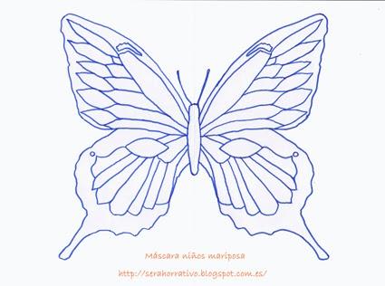 antifaz máscara carnaval niños mariposa gratis plantilla colorear