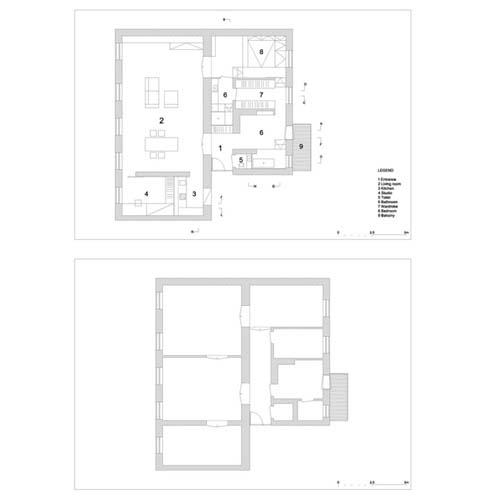 Appartamento su due livelli in slovenia arredamento facile for Piani a pianta aperta