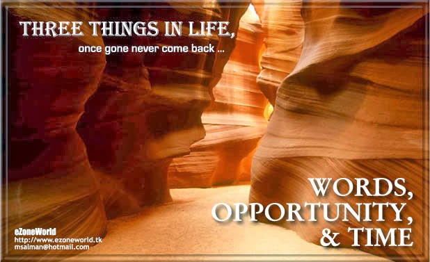 Words, Opportunity & Time