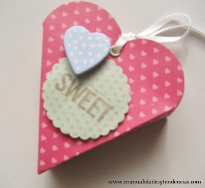 DIY Caja corazón para San Valentín / Heart shaped box for Valentine's day / Boîte en forme de coeur pour la Saint Valentin