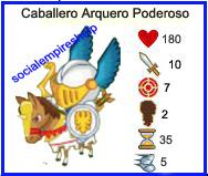 imagen de las caracteristicas del caballero arquero poderoso