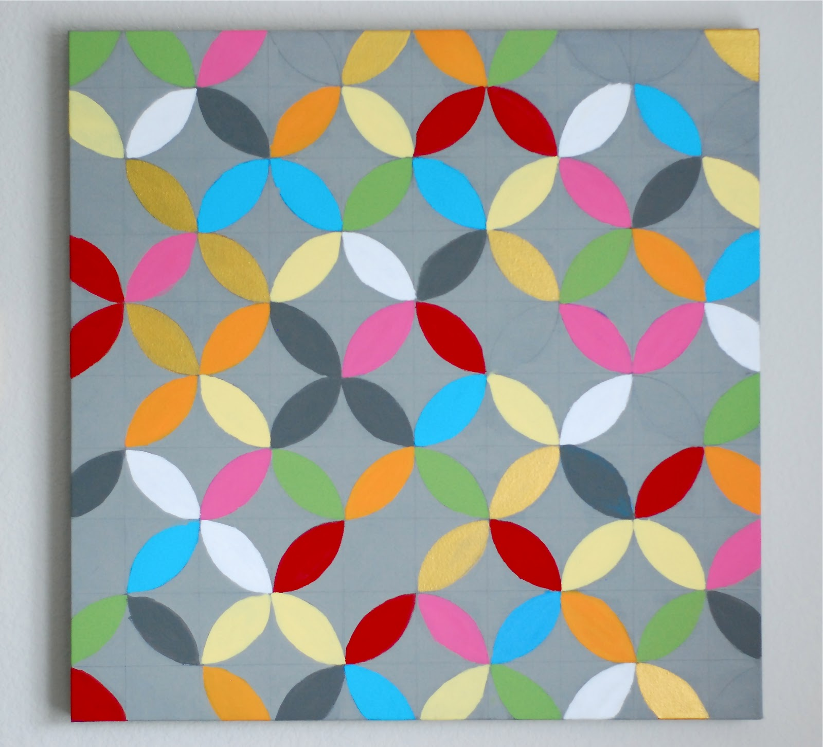 better than i could have imagined: DIY- intersecting circles wall art