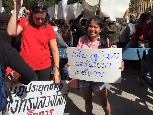 Protesting Prayuth Chan-ocha at the UN, New York on 26 September 2015 Part 1