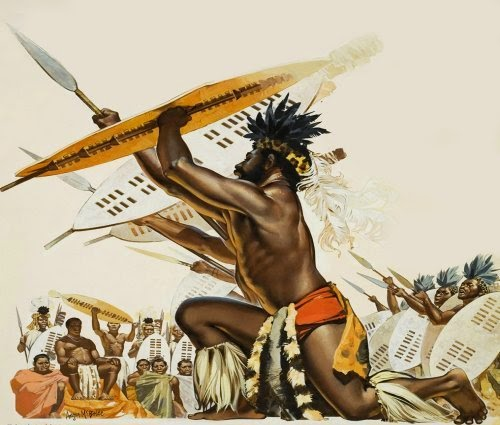 Painting Anglo Zulu War Zulus