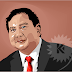 Prabowo In Cartoon Vector