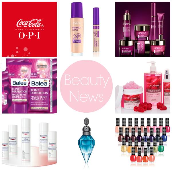 Die Beauty News Blog Reihe Teil 1 stellt euch heute die Produktneuheiten bei den Marken Astor, Balea, OPI, Eucerin, Katy Perry, M. Asam und Lierac vor.